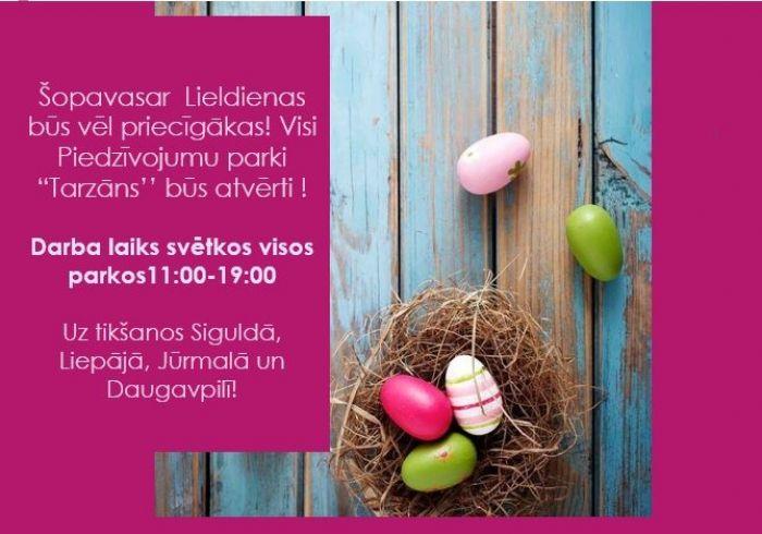 Visiem Priecīgas un Piedzīvojumiem bagātas Lieldienas!