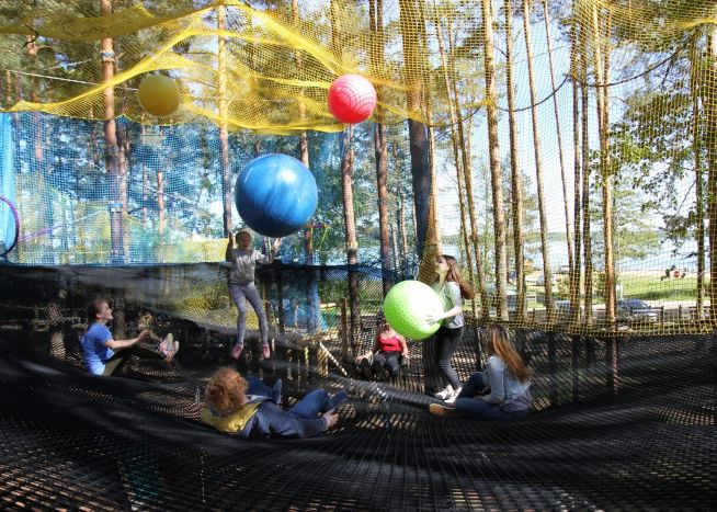 "A Net Route is open in the Adventure Park ""Daugavpils Tarzan""!"